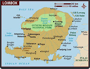 Map Of Lombok by Lonelyplanet.com